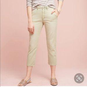 EUC Anthropologie Mint Slim chino ankle pants